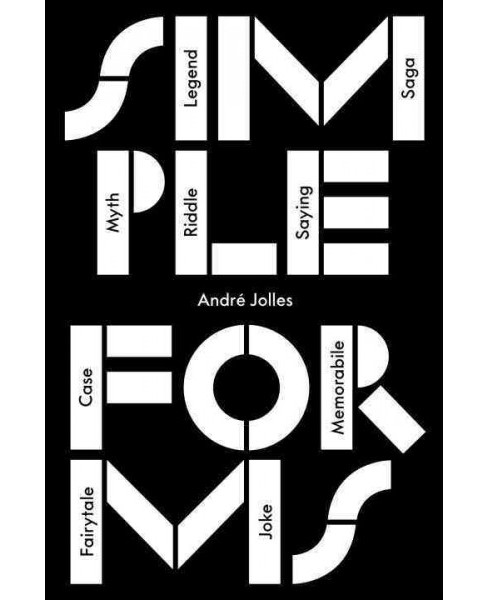 Simple Forms (Paperback) (Andre Jolles) - image 1 of 1