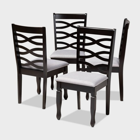 4pc Lanier finished Wood Dining Chairs - Baxton Studio - image 1 of 7