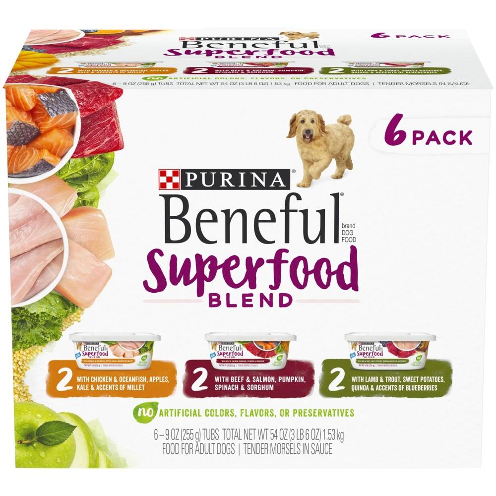 Nestle Purina Beneful Superfood Blend 6pk Variety Pack Wet Dog Food - 6-9oz