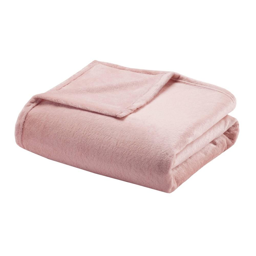 King Microlight Bed Blanket Blush