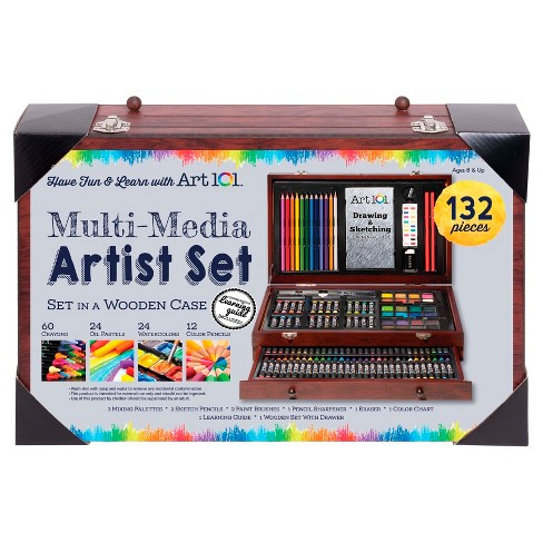 Art 101® Multi-Media Artist Set in Wooden Case 132pc - image 1 of 2