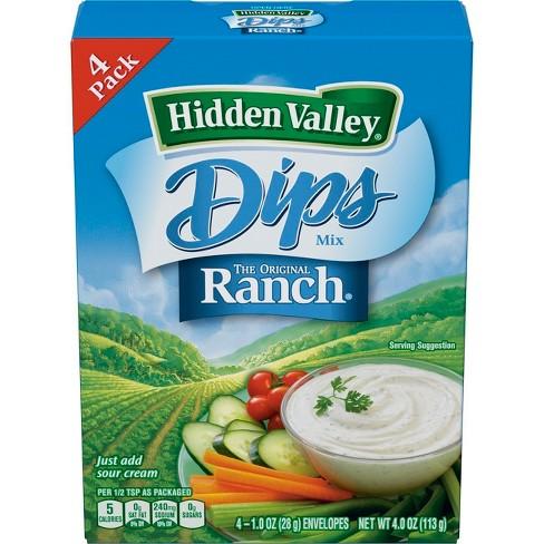 Hidden Valley Original Ranch Dips Mix, Gluten Free, Keto ...