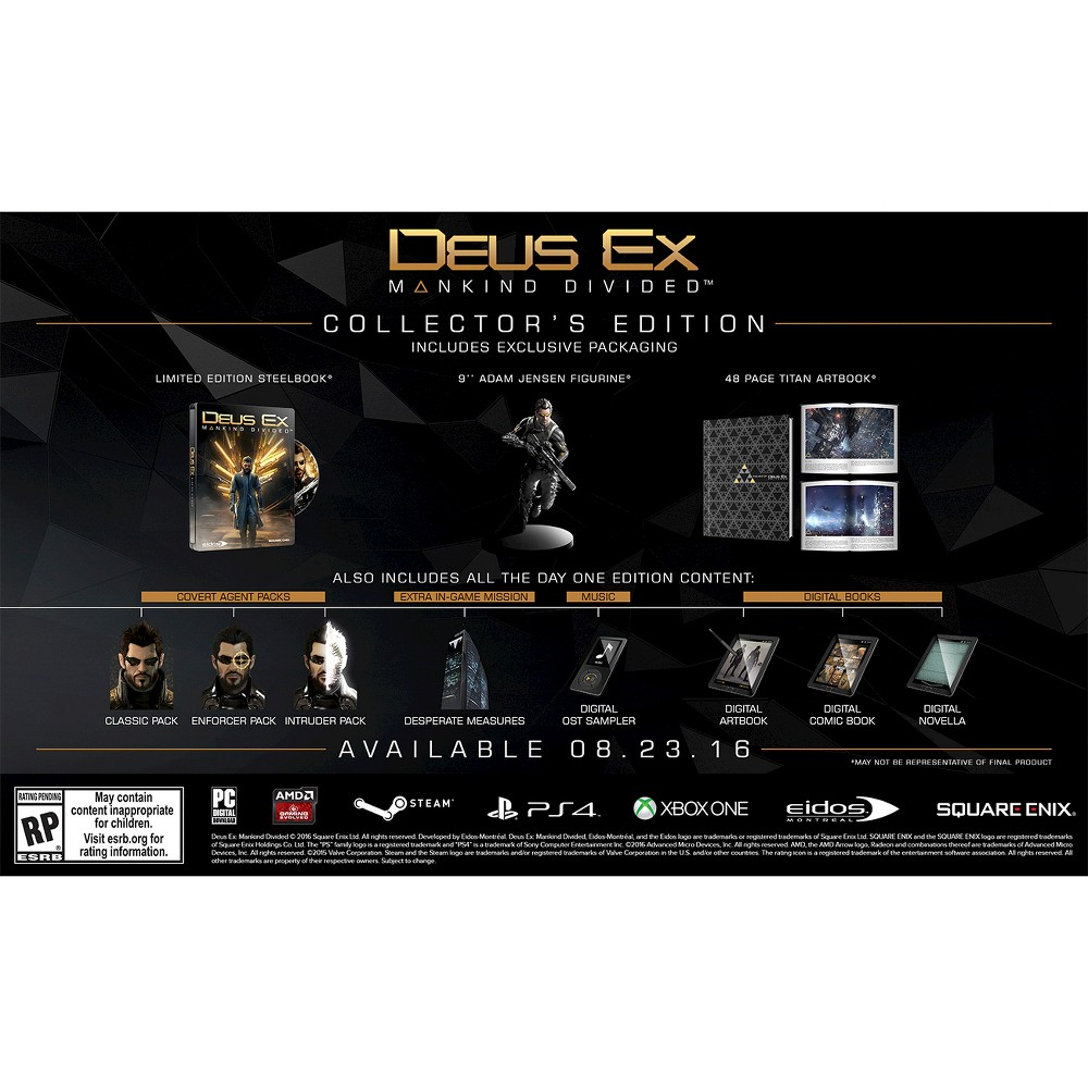 Deus Ex Mankind Divided Collector's Edition PlayStation 4