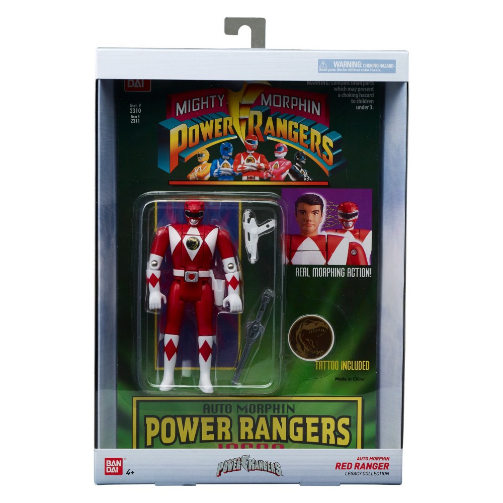 Legacy Mighty Morphin Power Rangers Auto Morphin Red Figure