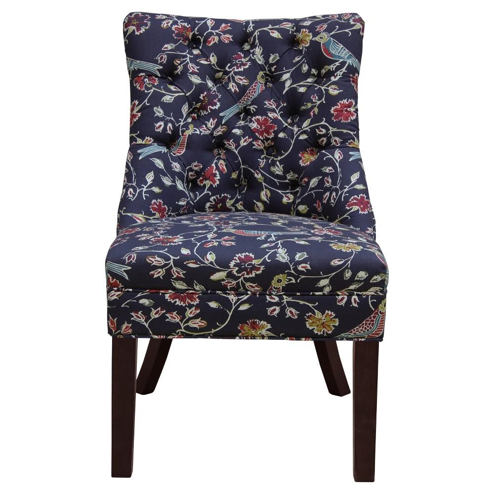 Winslow Tufted Chair - Navy Bird Print - Threshold