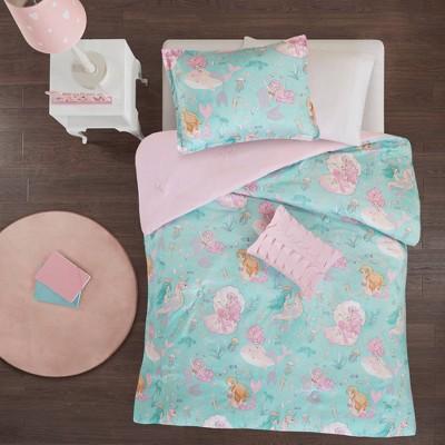 Livia Printed Comforter Aqua/Pink