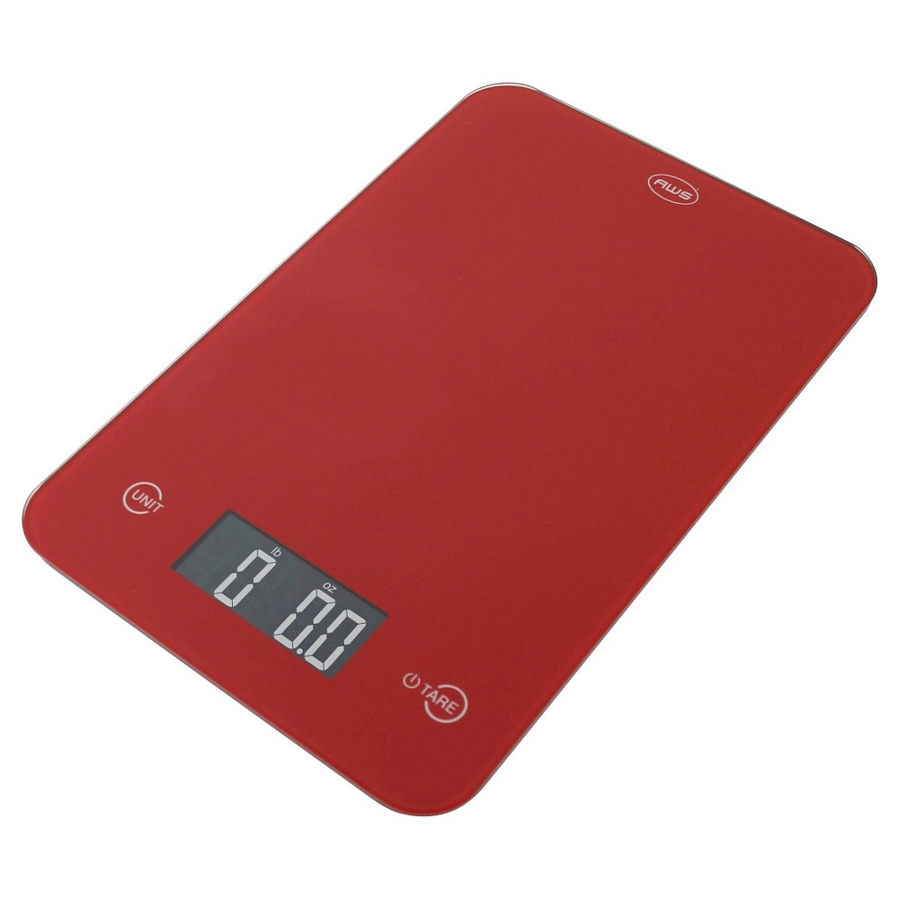 Aws Digital Kitchen Scale - Red
