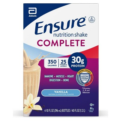 Ensure Complete Ready to Drink Vanilla Supplement - 4pk/10oz