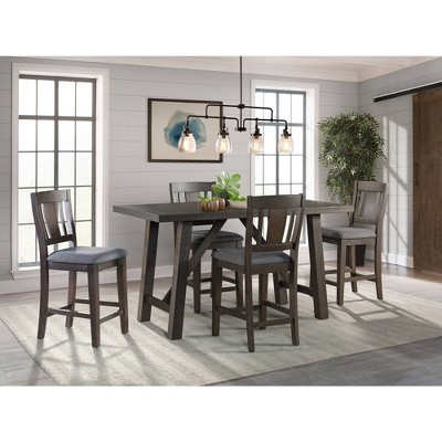 5pc Carter Counter Height Dining Set Graphite Gray - Picket House Furnishings