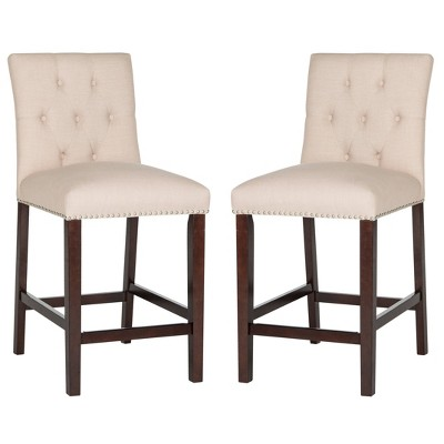 Set of 2 Counter and Barstools Beige - Safavieh