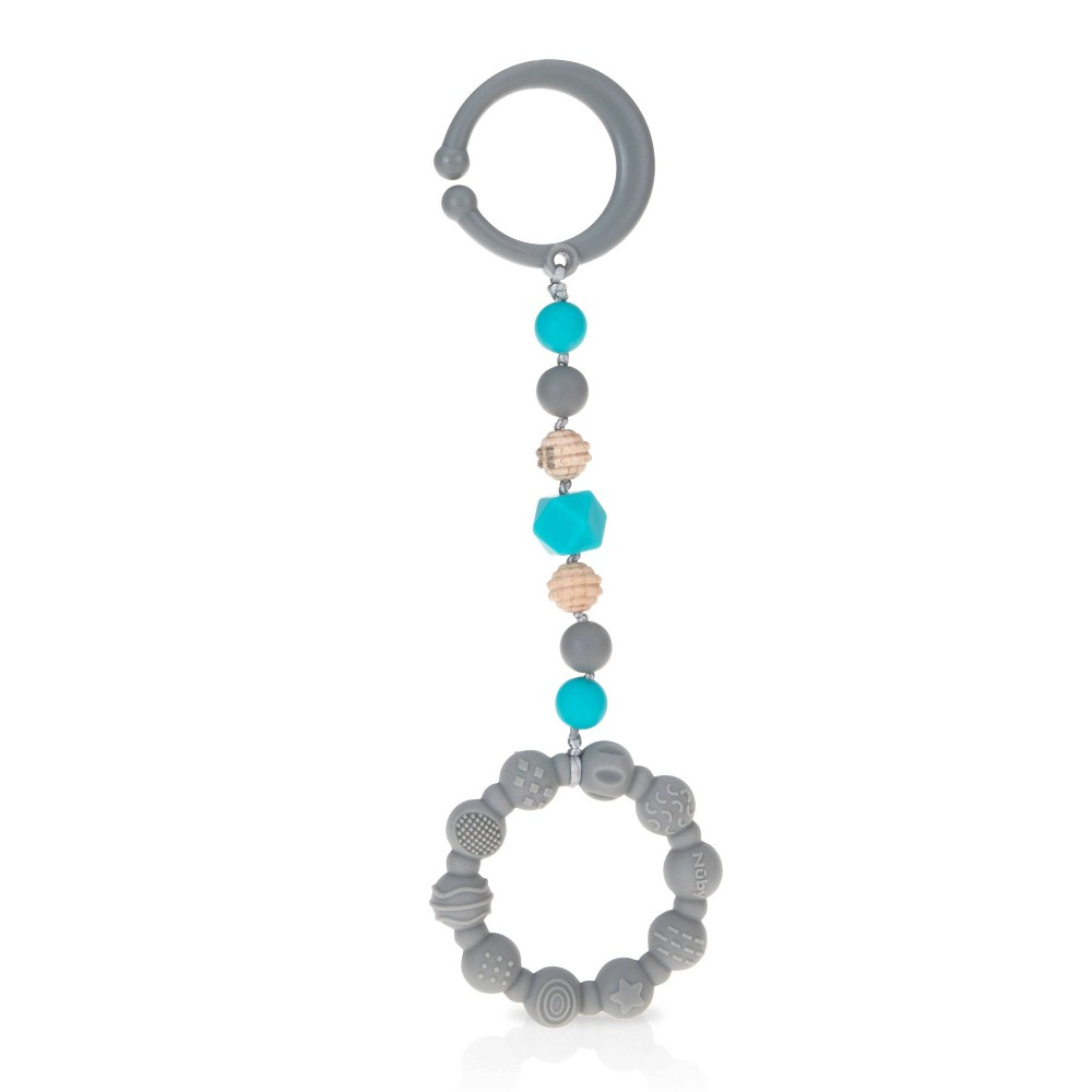 Nuby Tag A Long Teether Gray
