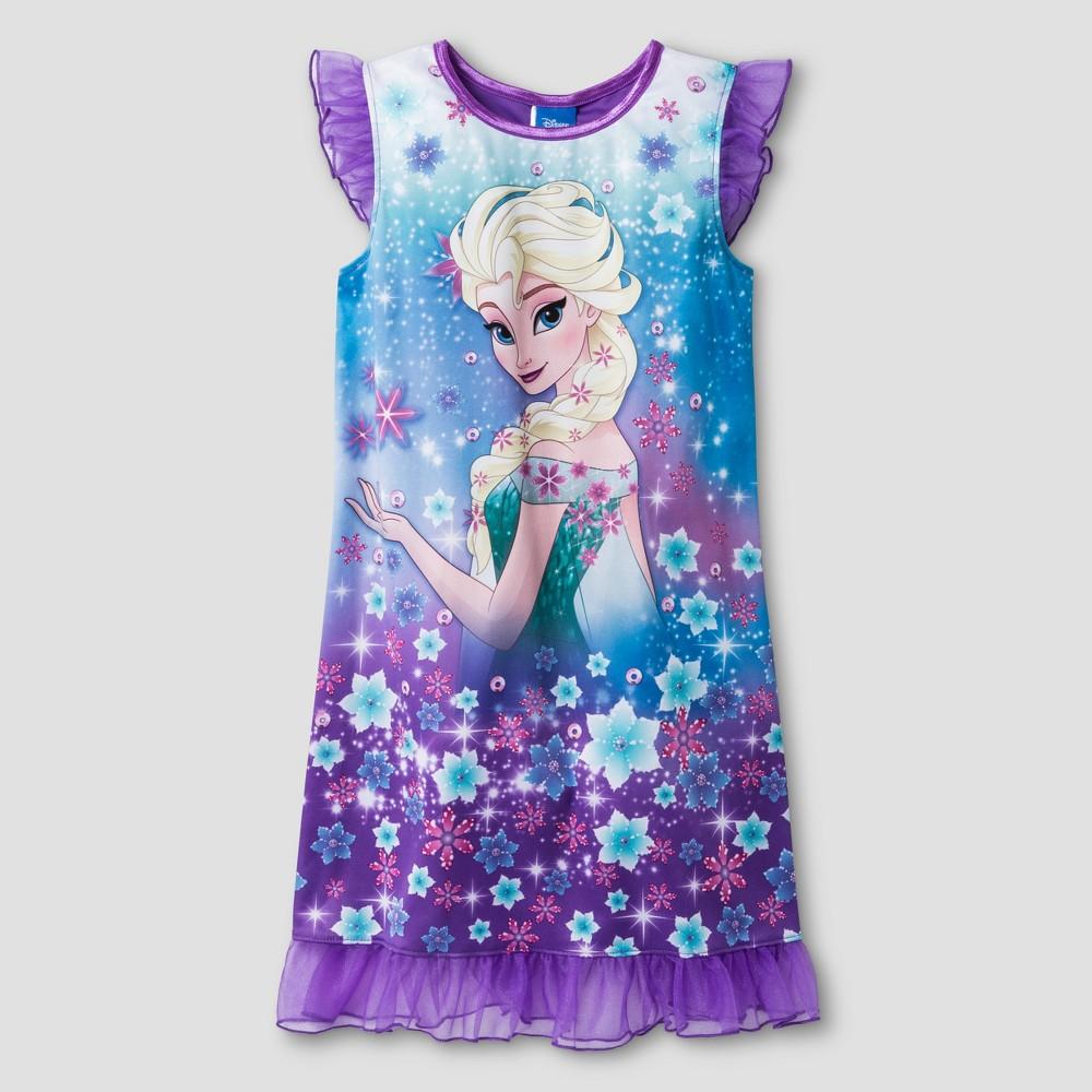 Girls' Frozen Nightgown - Purple 8