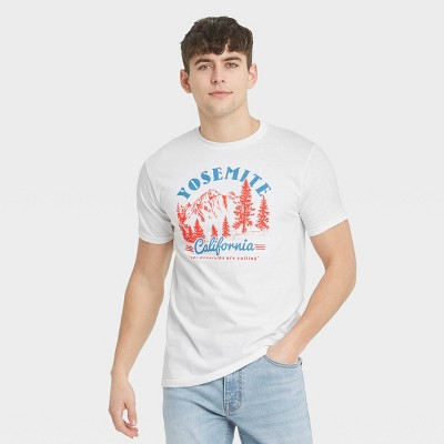 Men's Short Sleeve Yosemite Graphic T-Shirt - Awake White