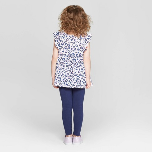 7558c1d95353 Toddler Girls' Leopard Print Top And Bottom Set - Cat & Jack™ Pink ...