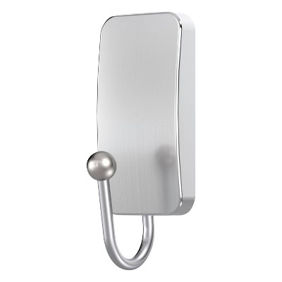 Command Small Bath Wall Hook Metal Brushed Nickel