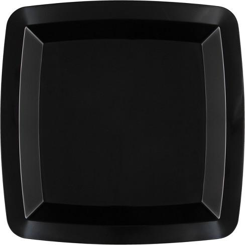 12ct Black Plastic Dessert Plates - image 1 of 2