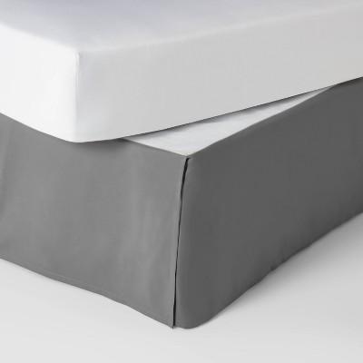 Queen Simple Pleat Bedskirt Gray - Pillowfort™