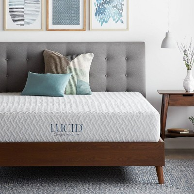 "Comfort Collection Plush 10"" Gel Memory Foam Mattress - Lucid"