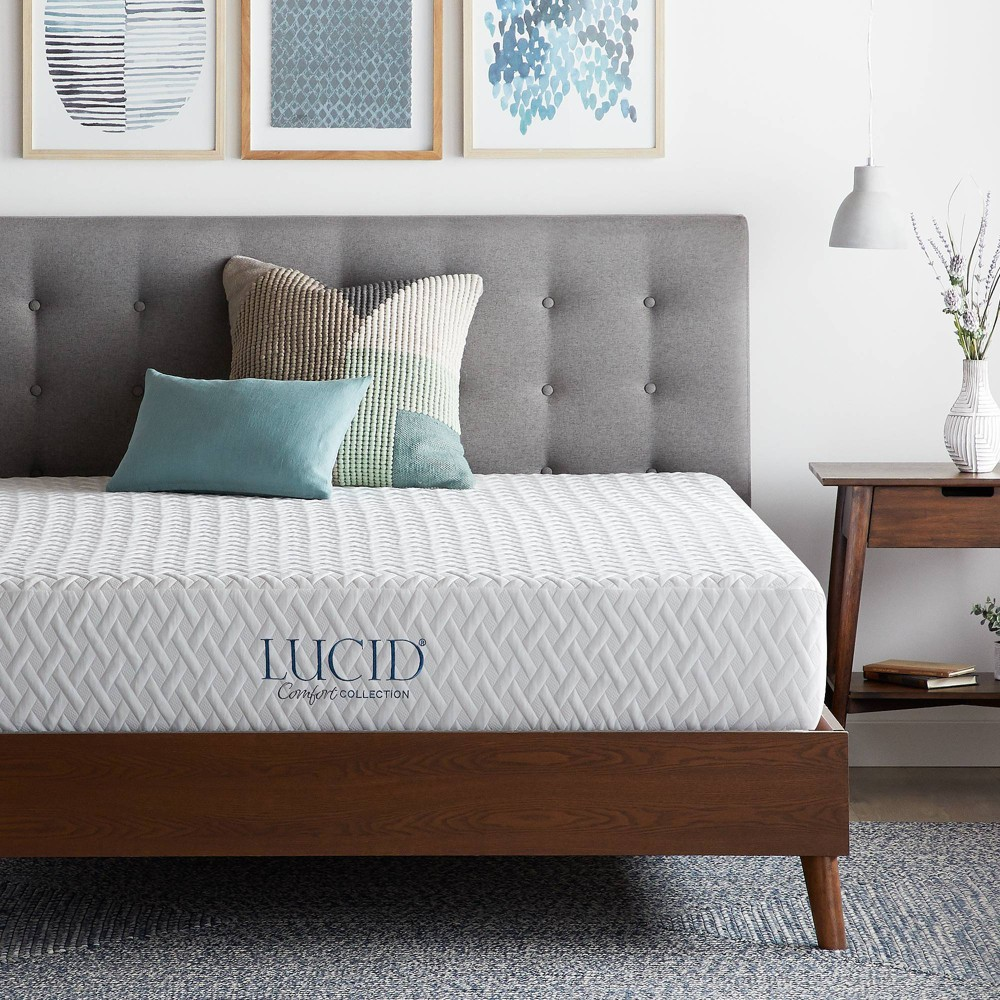 "Image of ""California King 10"""" Comfort Collection Plush Gel Memory Foam Mattress - Lucid"""