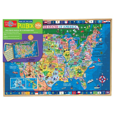 T.S. Shure - 500 Piece United States Wooden Puzzle : Target