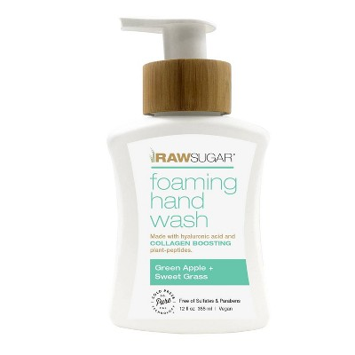 Raw Sugar Foaming Hand Wash Green Apple + Sweet Grass - 12 fl oz