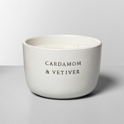 7.4oz Cardamom & Vetiver 2-Wick Ceramic Container Candle - Hearth & Hand™ with Magnolia