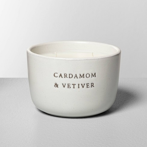 7.4oz Cardamom & Vetiver 2-Wick Ceramic Container Candle - Hearth & Hand™ with Magnolia - image 1 of 3