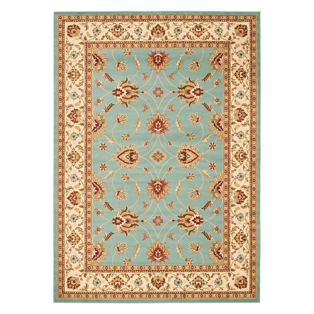 8'X11' Floral Loomed Area Rug Blue/Ivory - Safavieh