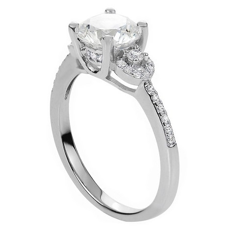 2 CT. T.W. Round-cut Cubic Zirconia Engagement Prong Set Ring in Sterling Silver - Silver - image 1 of 2