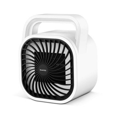 Geek Heat HA31-05E 500 Watt Mini Personal Portable Ceramic Fan Space Heater, White
