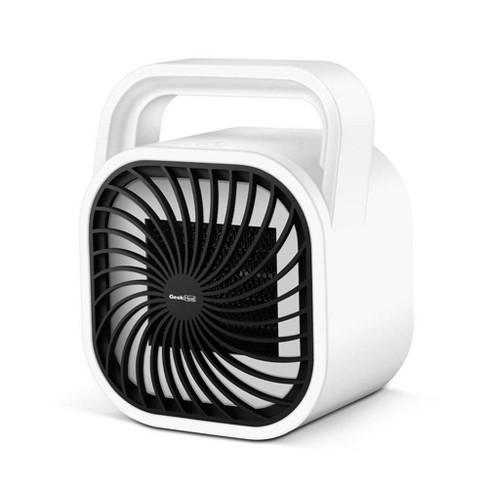 Geek Heat HA31-05E 500 Watt Mini Personal Portable Ceramic Fan Space Heater, White - image 1 of 4