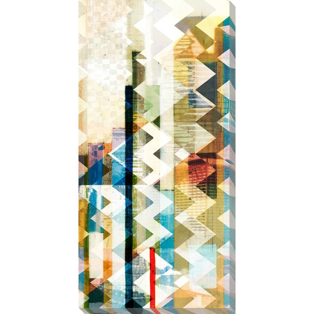 Image of Urban Chevron II Unframed Wall Canvas Art - (18X36)