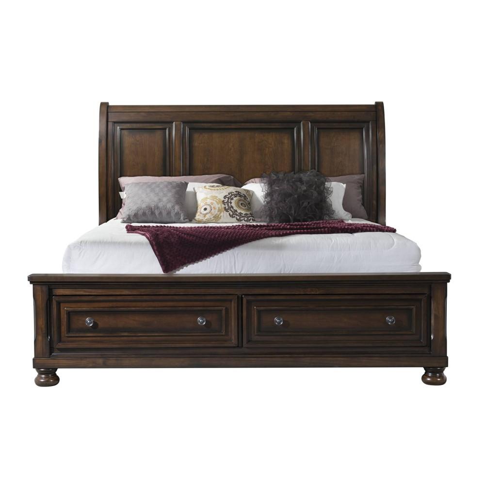 King Kingsley Storage Bed Walnut - Picket House Furnishings, Brown