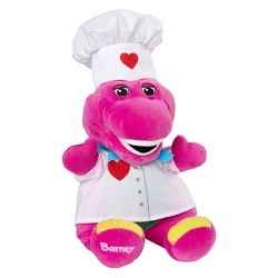 """Fisher-Price Barney & Friends Chef Hat & 12"""" Plush Doll"""