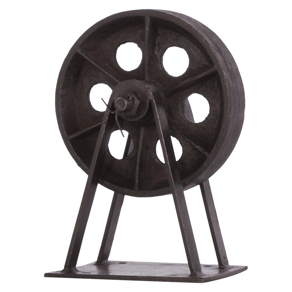 Image of Decorative Iron Blackstone Wheel - Black