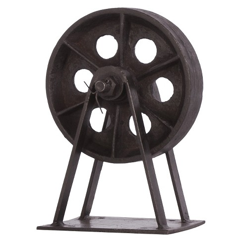 Decorative Iron Blackstone Wheel - Black - image 1 of 1