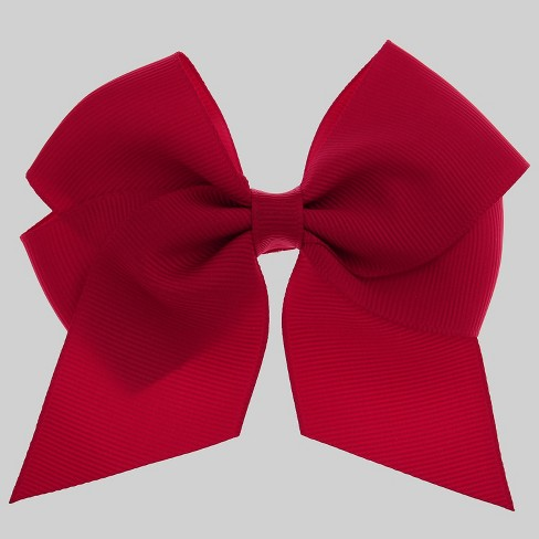 Girls' Bow Metal Snap Clip - Cat & Jack™ Red - image 1 of 3
