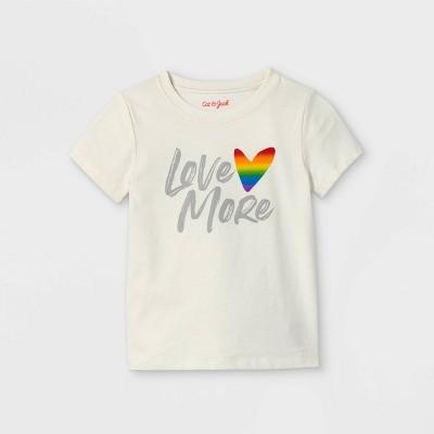 Toddler Boys' 'Love More' Graphic Short Sleeve T-Shirt - Cat & Jack™ Cream