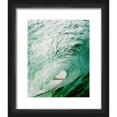 """12"""" x 12"""" Matted to 2"""" See Though Picture Framed Black - PTM Images"""