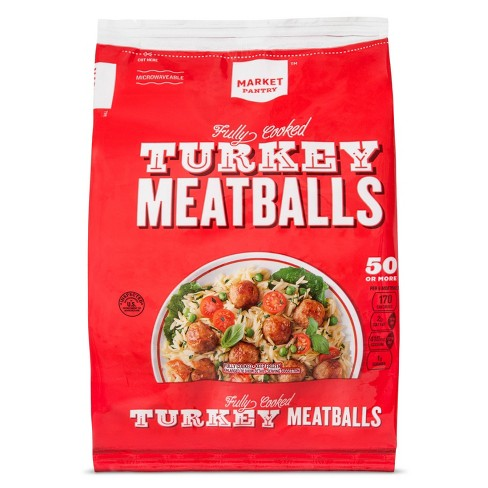 Lean Fully Cooked Frozen Turkey Meatballs - 28oz - Market Pantry™ - image 1 of 1