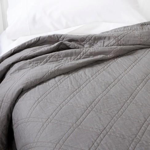 Gray Linen Blend Quilt King Threshold Target