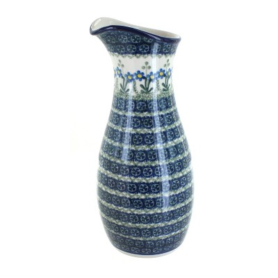Blue Rose Polish Pottery Blue Posy Water Carafe