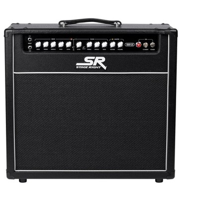 Monoprice SB12 50-Watts All Tube 2-channel 1x12 Guitar Amp Combo with Spring Reverb, Clean and Overdrive Channels, Powerful - Stage Right Series