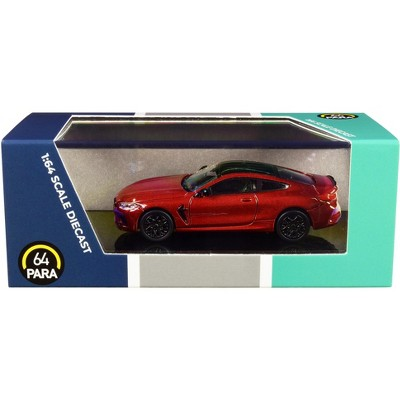 BMW M8 Coupe Motegi Red Metallic with Black Top 1/64 Diecast Model Car by Paragon