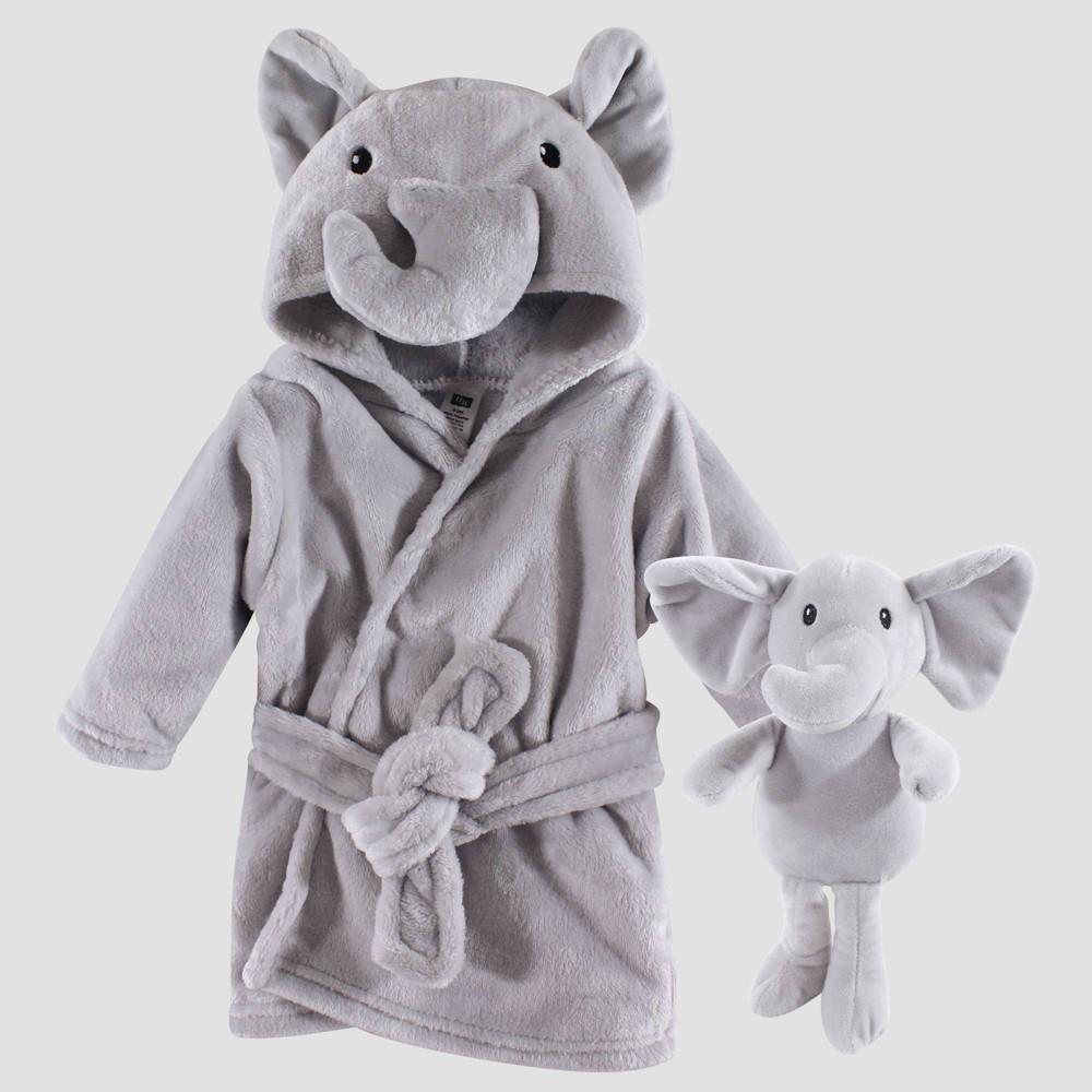 Image of Hudson Baby Elephant Snuggle Time Box Bath Wraps Set - Gray 0-9M