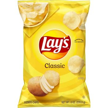 3-Pack Lays Classic Potato Chips 8 Ounce
