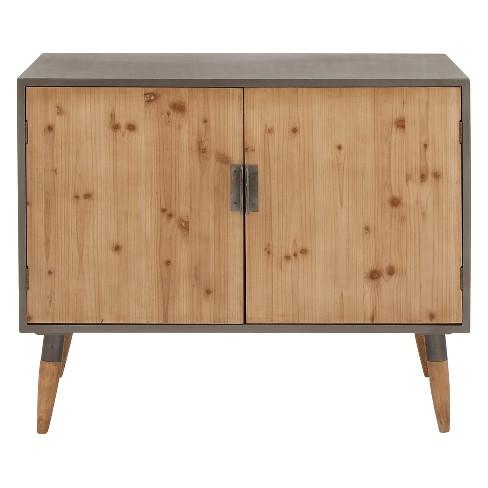 Wood 2 Cabinet Buffet Brown/Gray - Olivia & May - image 1 of 4