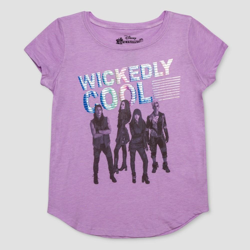 Girls' Descendants Cool Short Sleeve T-Shirt - Purple M