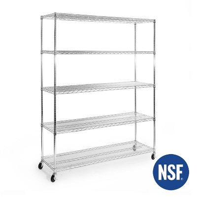 5-Tier UltraZinc NSF Steel Wire Shelving System 18x60x72 – Seville Classics