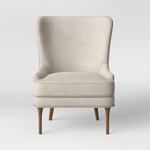 Cheswold Wingback Chair Beige - Threshold™ - image 1 of 4